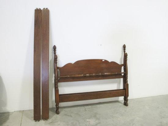 Duncan Phyfe style mahogany full size bed