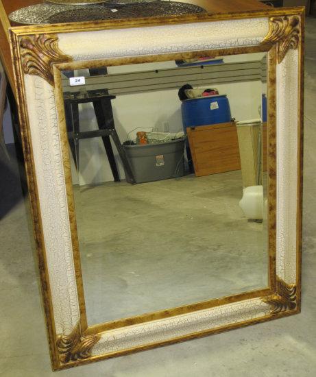 """32"""" x 39"""" framed beveled mirror"""