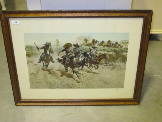 "25""x33"" framed size Frank McCarthy print"