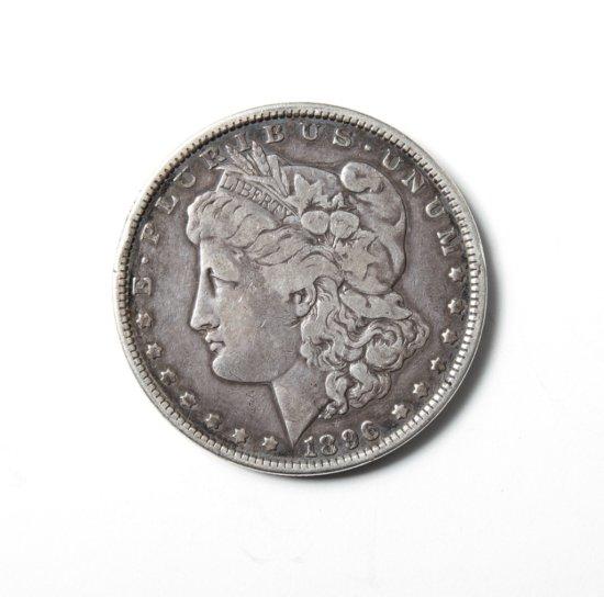 1896 Morgan dollar--Fine