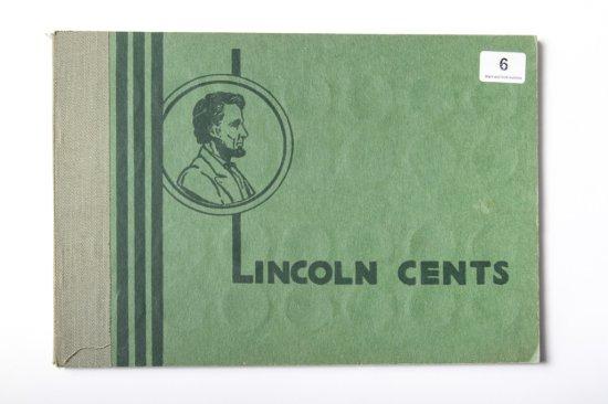 1950's Wayte Lincoln cent album, partial