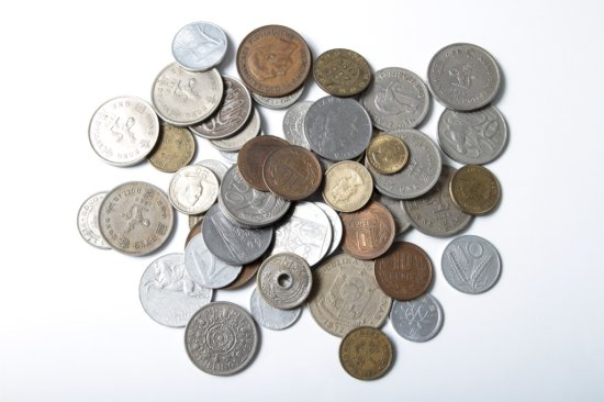 Lot: 50 mixed foreign coins