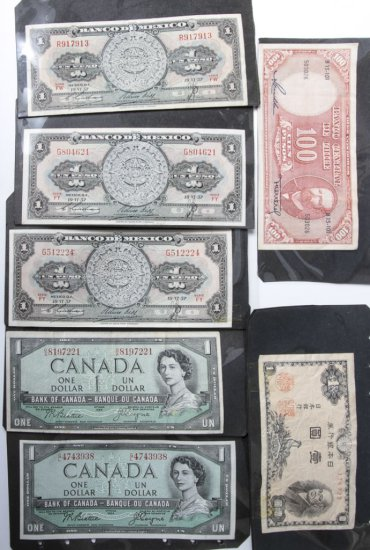 Lot: 7 pcs foreign currency