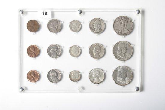 1947, 1957, 1960 U.S. date sets