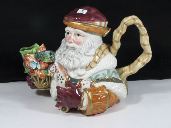"Fitz & Floyd Classics 7"" Santa Teapot"