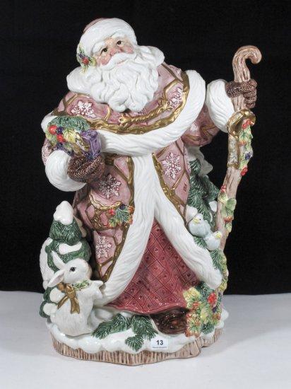 """15"""" Fitz & Floyd Classics Santa Vase"""