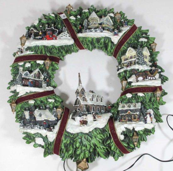 """Thomas Kinkade """"Village Wreath"""""""