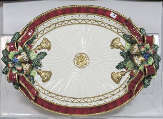 "18"" Fitz & Floyd Christmas Platter"