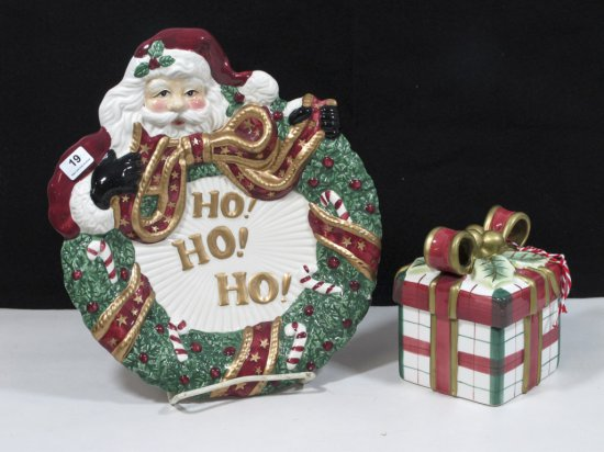 Lot of Two Fitz & Floyd Holiday Items