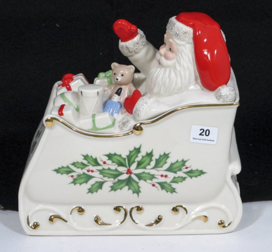Lenox Holiday Sleigh Covered Candy Dish