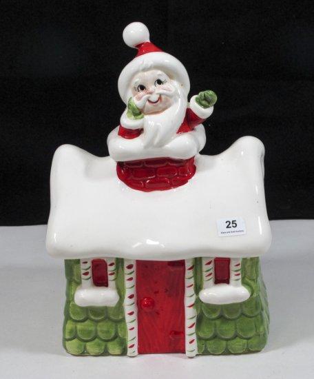 "Lefton China 9"" Santa Candy Jar"