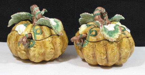 Pair of Fitz & Floyd Pumpkin Bowls