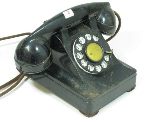 Black Bakelite Western Electric Phone