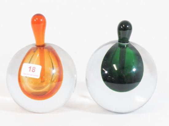 Lot of 2 Silvestri Perfume Bottles