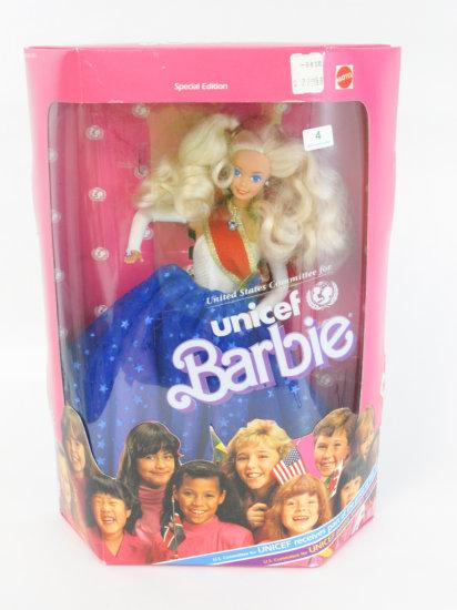 Unicef Barbie, new in box