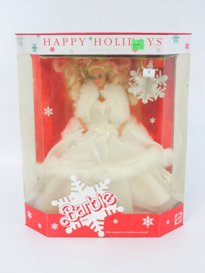 Happy Holidays 1989 Barbie, new in box