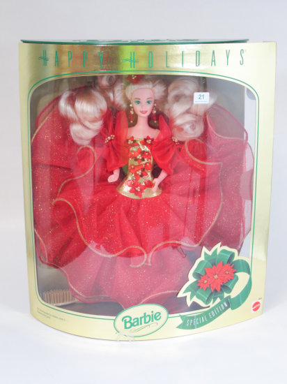 Happy Holidays 1993 Barbie, new in box