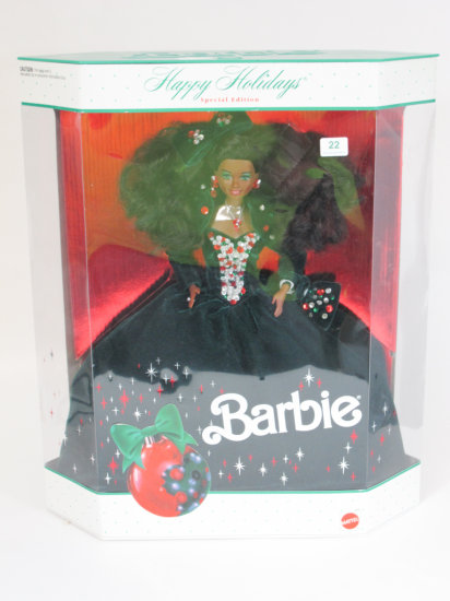 Happy Holidays 1991 Barbie, new in box