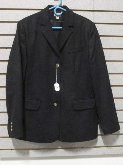 LL Bean Women's Black Wool/Cashmere Blazer