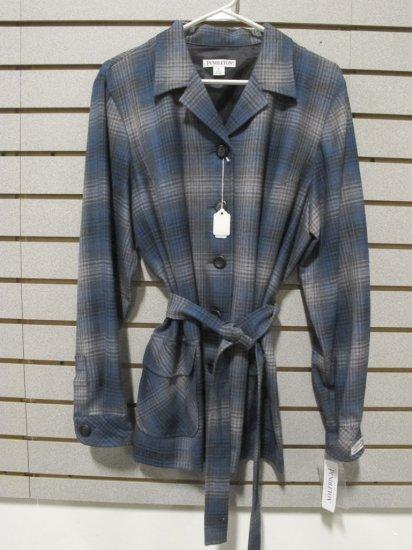 Pendleton  Wool Gray/Brown/Blue Plaid Jacket