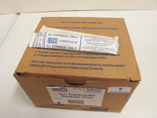 Box of 95 1cc Single Use Syringes