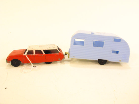 Tootsietoy Ford Station Wagon and Camper