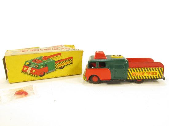 Lineman Toys Tin Litho Rescue Truck