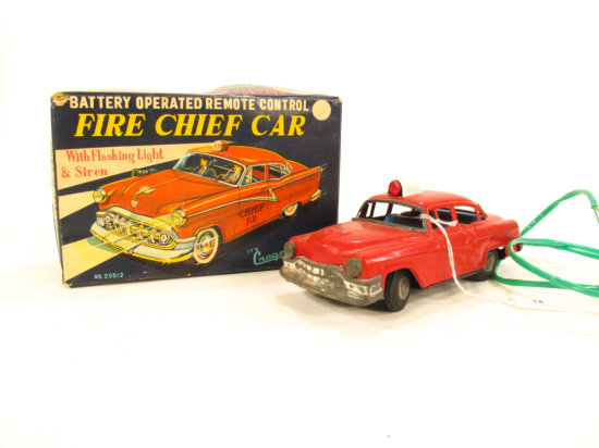 Cragston Battery Operated Fire Chief Car
