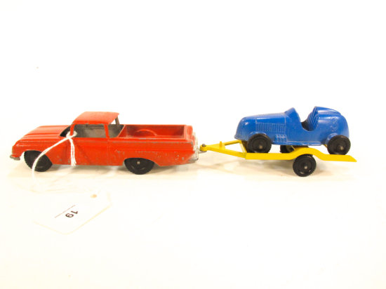 Tootsietoy Ford Ranchero With Race Car