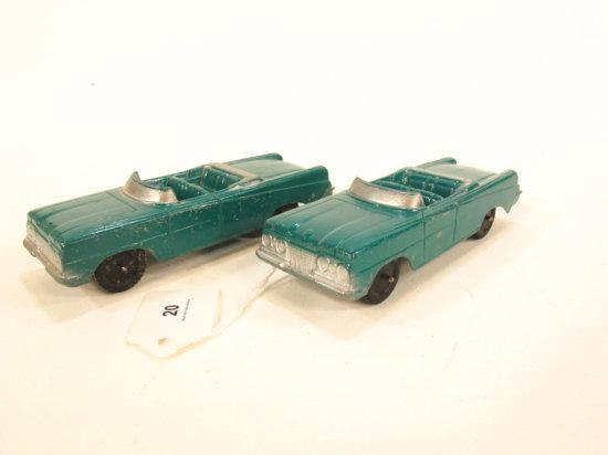 2 Tootsietoy Oldsmobile Convertibles