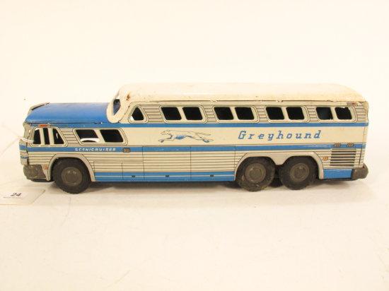 Japanese Tin Litho Greyhound Bus