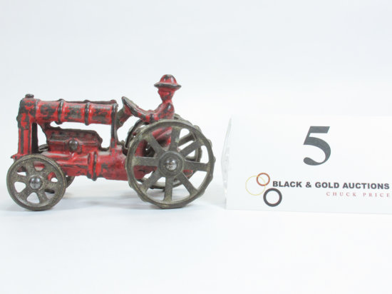 """4"""" Arcade Cast Iron Tractor with Driver"""