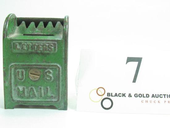"3"" Hubley Cast Iron Mailbox Bank"