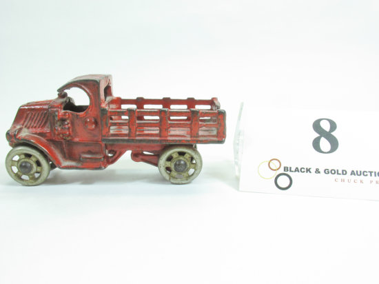 """4-1/2"""" Hubley Cast Iron Stake Bed Truck"""