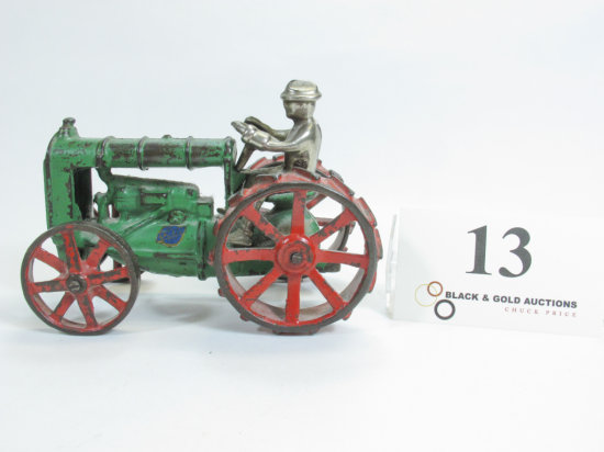 """6"""" Arcade Cast Iron Tractor with Driver"""