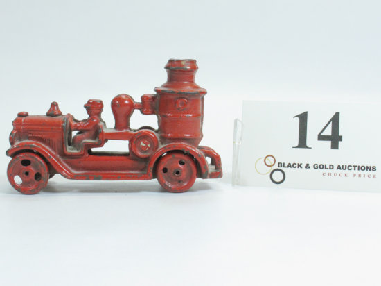 """4-3/4"""" Cast Iron Early 1900s Fire Engine"""