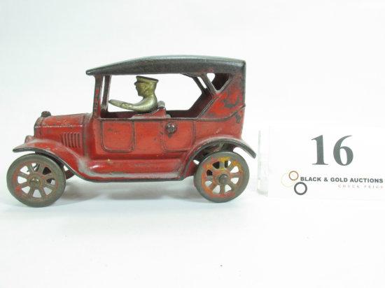 "6"" Arcade Cast Iron Touring Car"