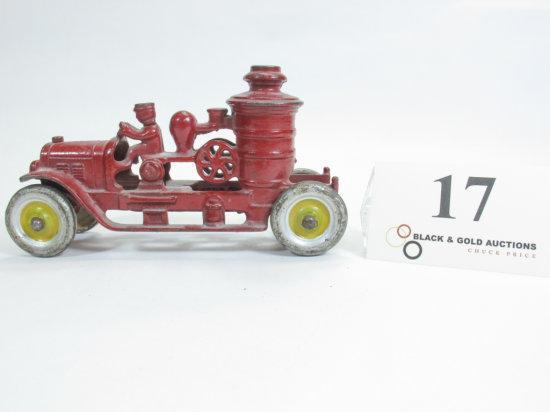 "6-1/2"" Kenton Toys Cast Iron Fire Engine"