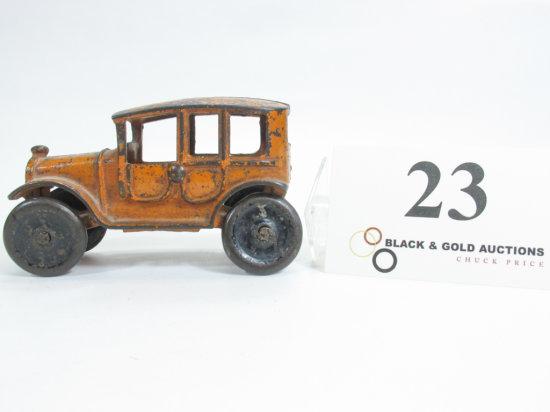 """4-1/2"""" Cast Iron Orange Taxi Cab"""