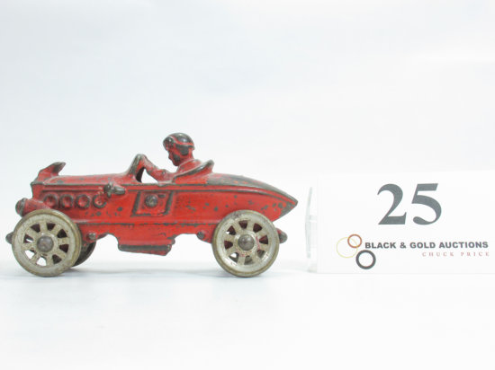 "5-1/4"" Cast Iron Boattail Race Car"