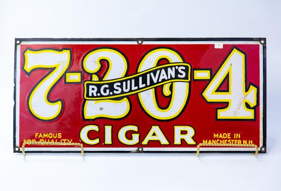 Porcelain R.G.Sullivans Cigar sign