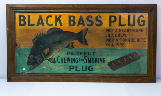 Black Bass Plug framed adv. Print