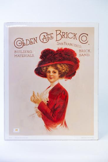 Golden Gate Brick co. advertising print