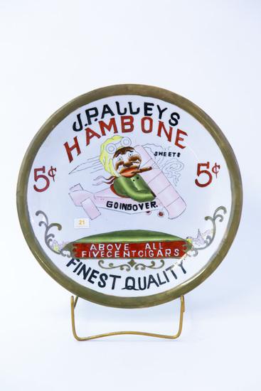 J.P. Alleys Hambone advertising plate