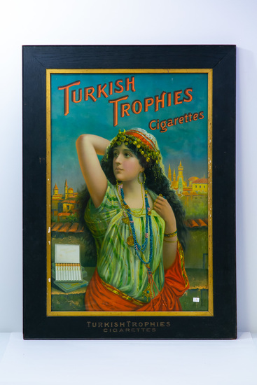 Framed Turkish Trophies Cigarettes ad