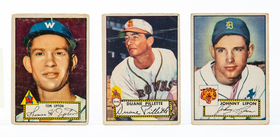 1952 Topps  (3 card lot)