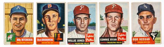 1953 Topps (5 card lot)