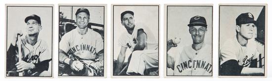 1953 Bowman B & W (5 card lot)