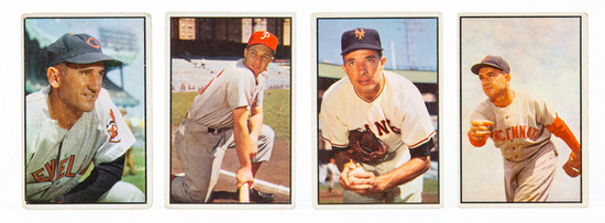 1953 Bowman Color (4 card lot)