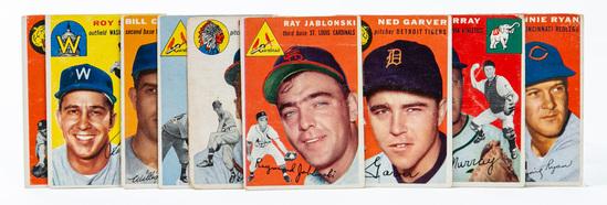 1954 Topps (9 card lot)